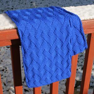 Free Knitting Pattern L20012 Basketweave Baby Throw : Lion Brand