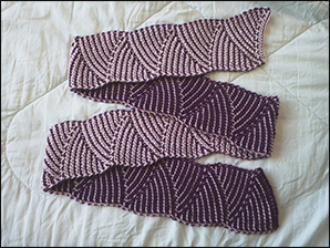 Crochet Double Ended Hook Scarf And Jacobs Ladder Courses