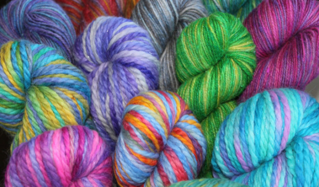 Hand Painted Yarn by Gail Stiver
