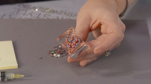 Swarovski Flat Back Crystals add Bling at Creativ Festival