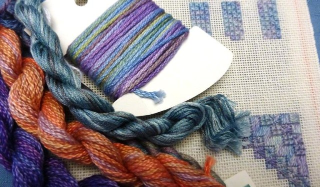 Northern Pine - Fun with Overdyed Threads_700x