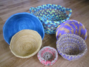Fabric Bowls and Baskets