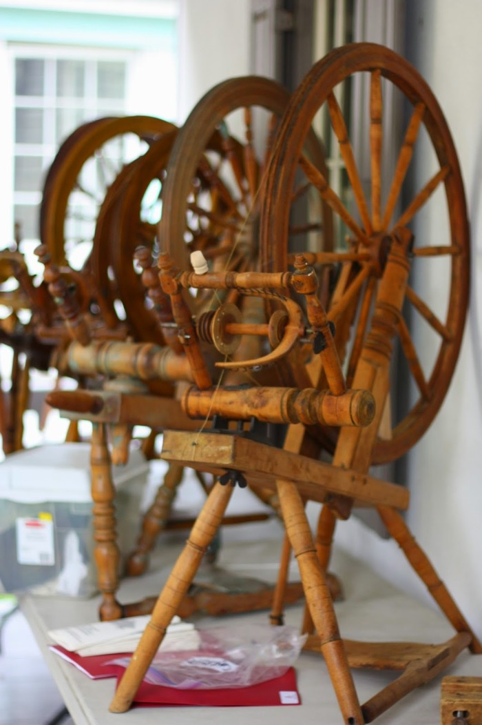 Spinning Wheels At Creativ Festival Antique